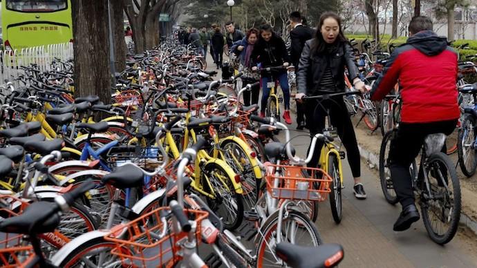 В Шанхае более 1,5 млн общественных велосипедов. Источник: South China Morning Post