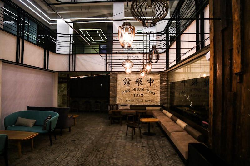 "Интерьер ""Пресс-кафе"". Источник: That's Shanghai"