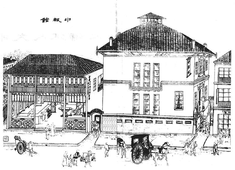"""Старое здание издательства """"Шэньбао"""" (справа). Источник: Wu Youru"""