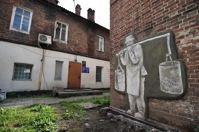 """Арт-проект """"Обитатели миллионки"""" группы 33+1. Источник: smitsmitty.livejournal.com"""