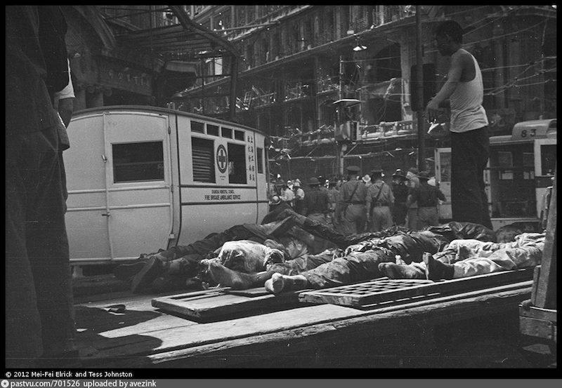 Жертвы бомбежки на Нанкинской в 1937 году. Источник: hpcbristol.net/visual/ro-n0245