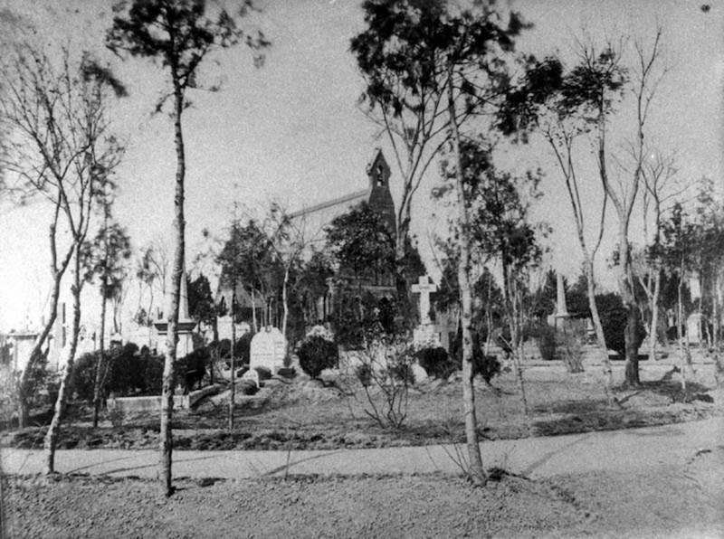 Кладбище и часовня. Источник: virtualshanghai.net