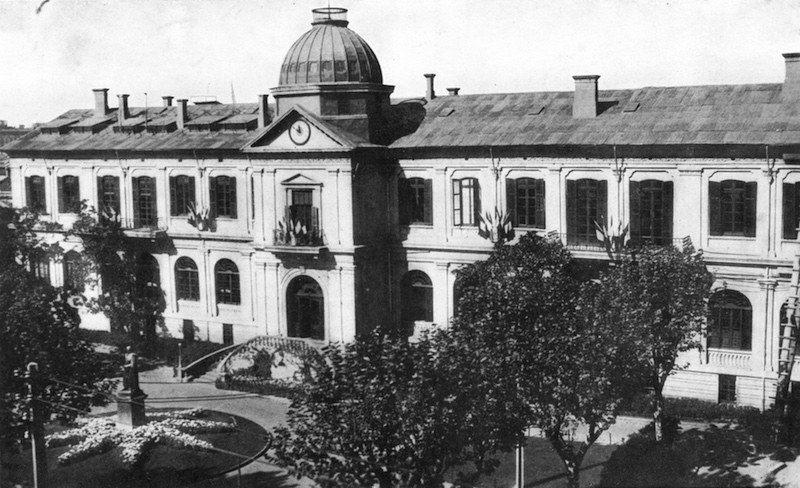 Старое здание Французской администрации на Рю Консулат. Источник: R. Barz - Sketches of Present-Day Shanghai