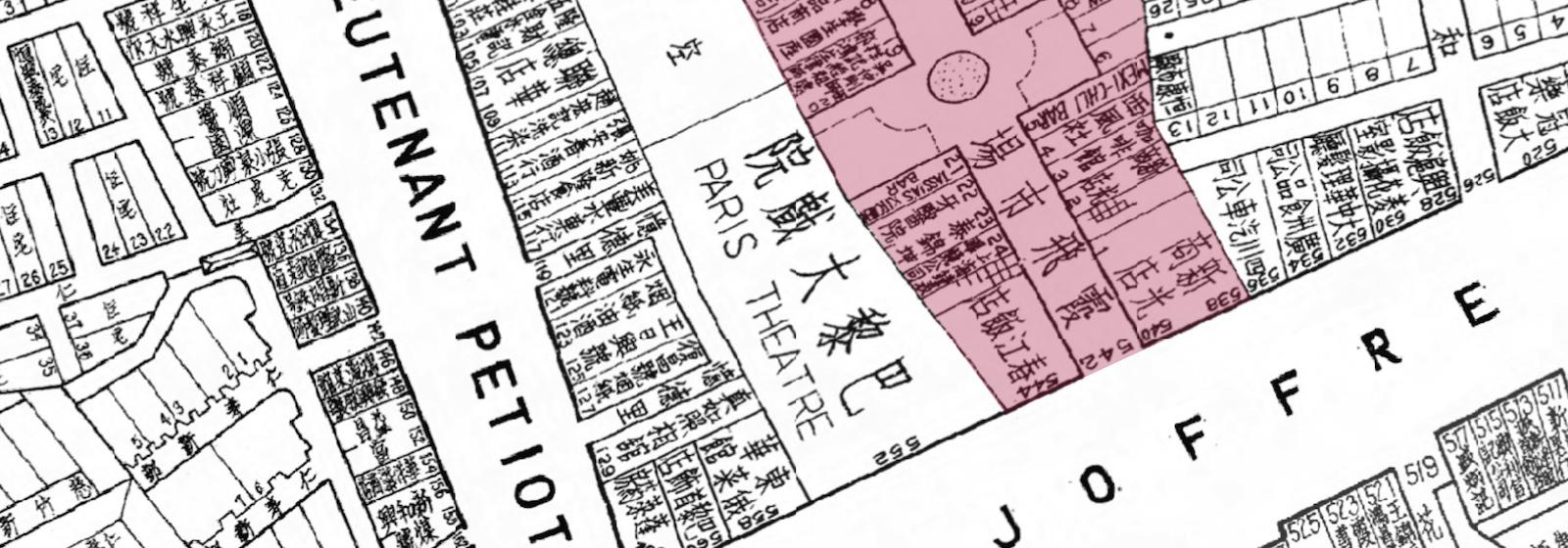 Карта Joffre Arcade (c)-historicshanghai.net