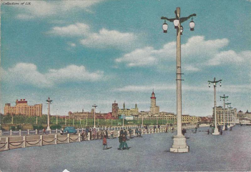 Открытка с проспектом Renmin Avenue в 1959 году. Источник: flickr Fin de Siecle