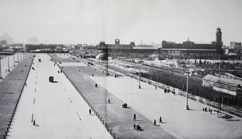 Проспект Renmin Avenue, пересекший бывший ипподром, снятый в 1957 году. Источник: 360doc