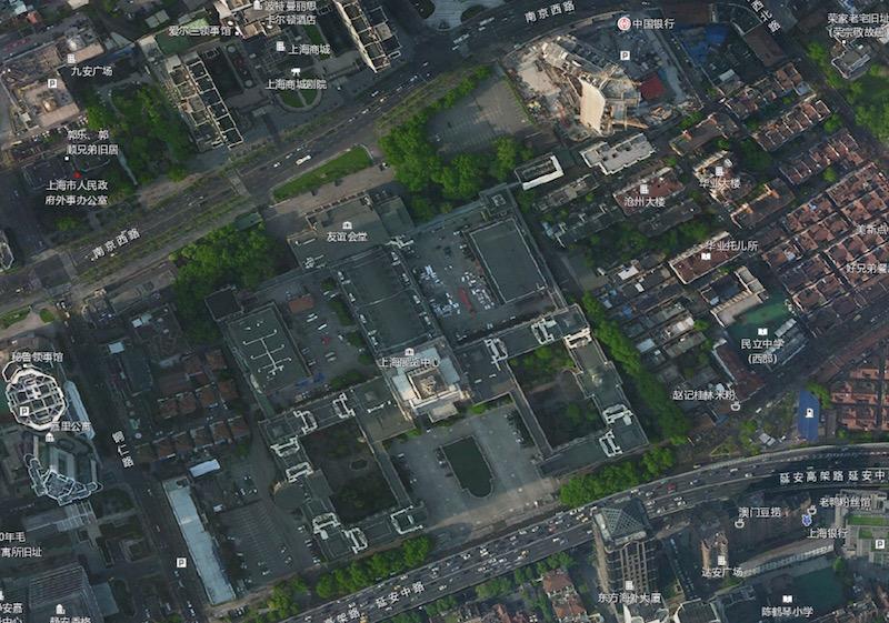 Спутниковая съемка комплекса в наши дни. Источник: shanghai-map.net