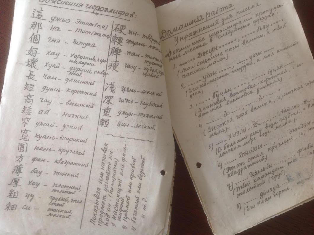 Словарь для учащихся, составленный Лянь-Кунем. Источник: личный архив семьи