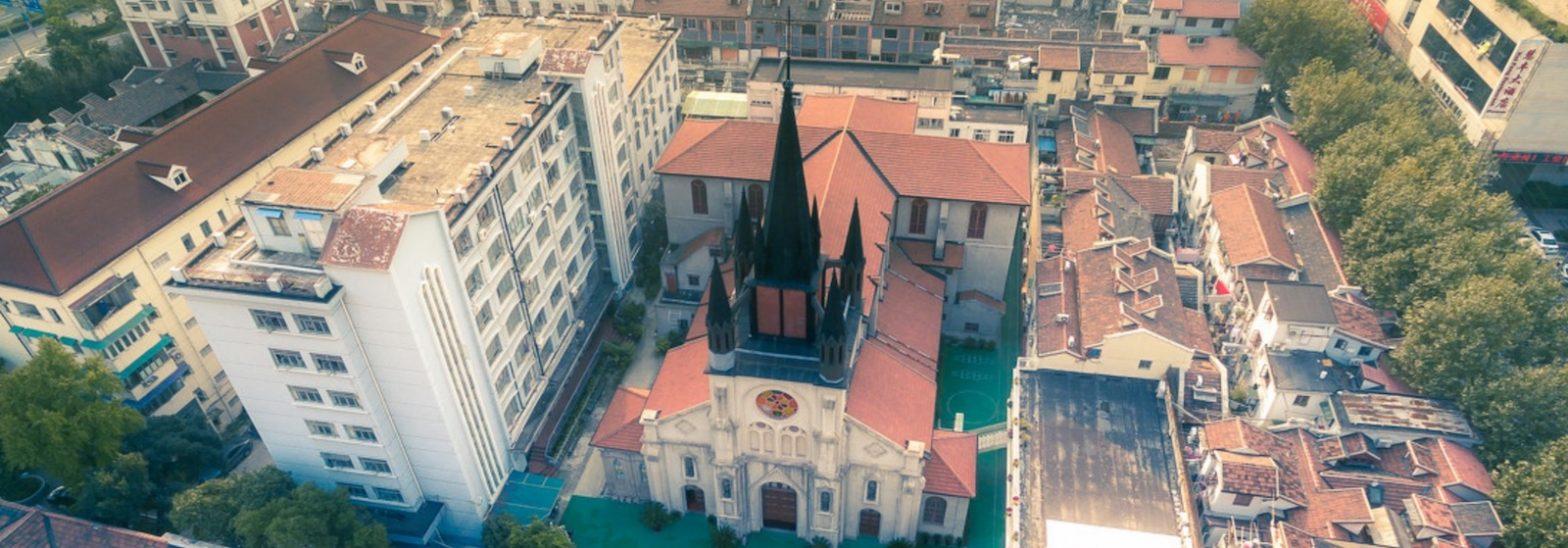 Церковь св. Иосифа с высоты-1 (с) Stoney Zhang Genovision