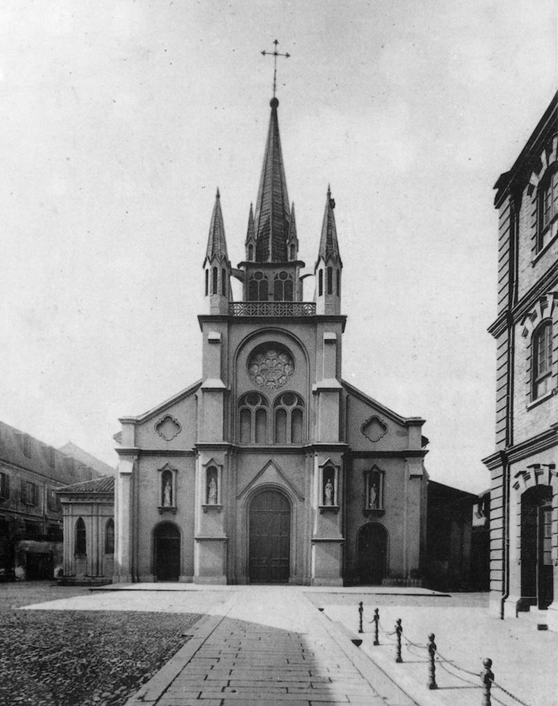 Церковь святого Иосифа в 1900 году. Источник: virtualshanghai.net