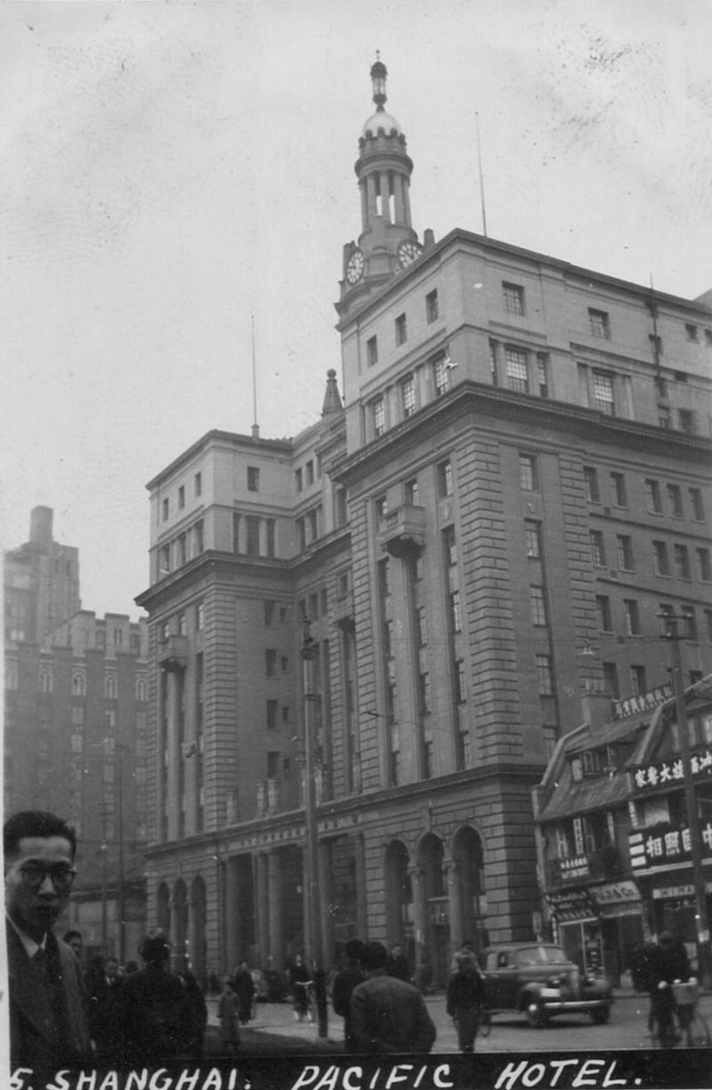 Здание отеля Пасифик в 1945 году. Источник: flickr Cities in Old Days
