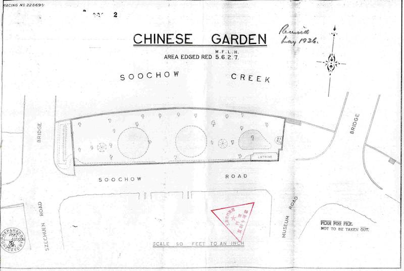 Карта Китайского сада между двумя мостами. Источник: virtualshanghai.net