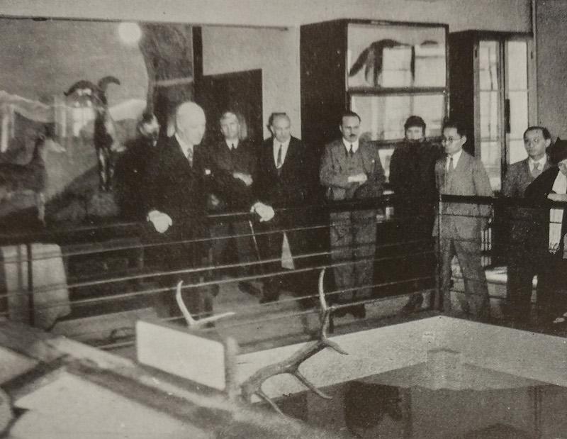 Открытие музея в новом здании в 1933 году. Источник: China's Natural History-A Guide to RAS Museum (1936)