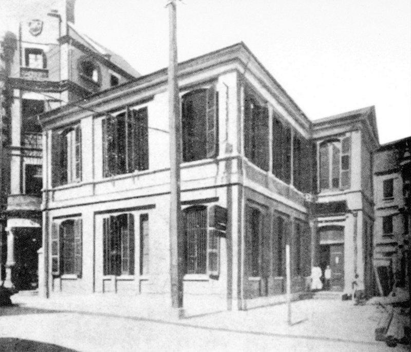 Первая штаб-квартира Королевского общества на Музейной улице в 1870-е годы. Источник: Shanghai Archive