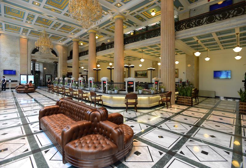 Банковский зал после реставрации. Источник: shine.cn
