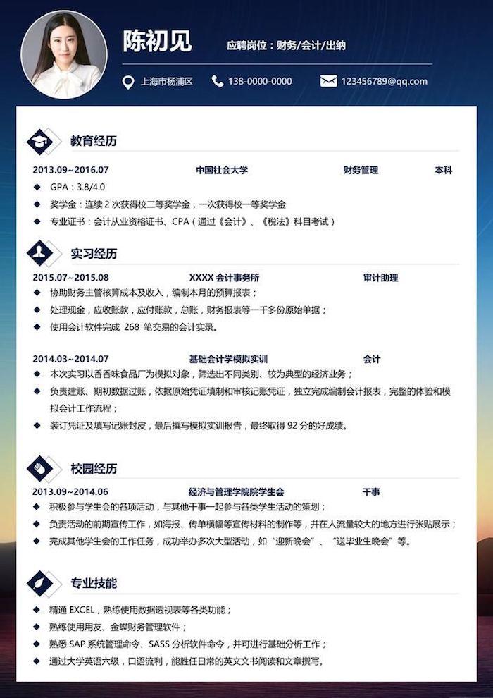 Так выглядит стандартное резюме в Китае. Резюме случайного человека из поиска Google