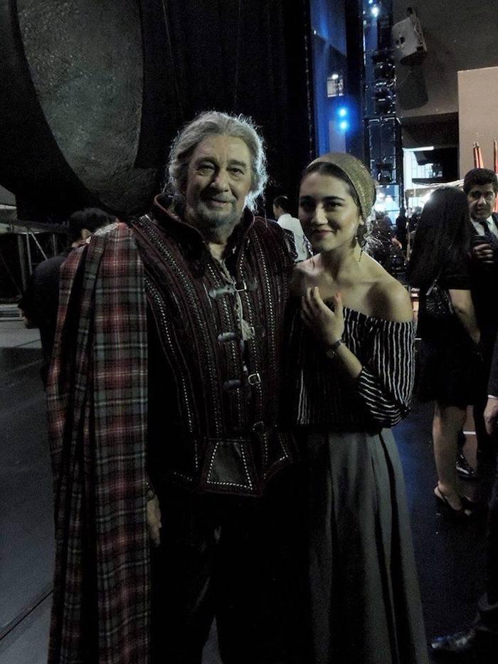 Азиза Кадырова вместе с Пласидо Доминго в Национальном театре Китая