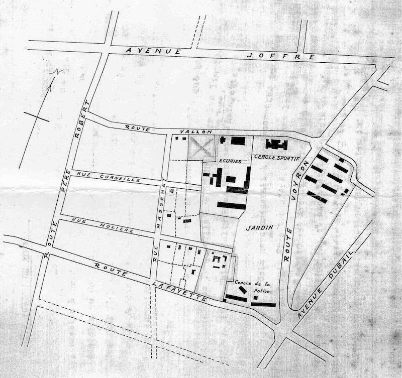 Исторический план парка и окрестностей. Источник: Virtual Shanghai