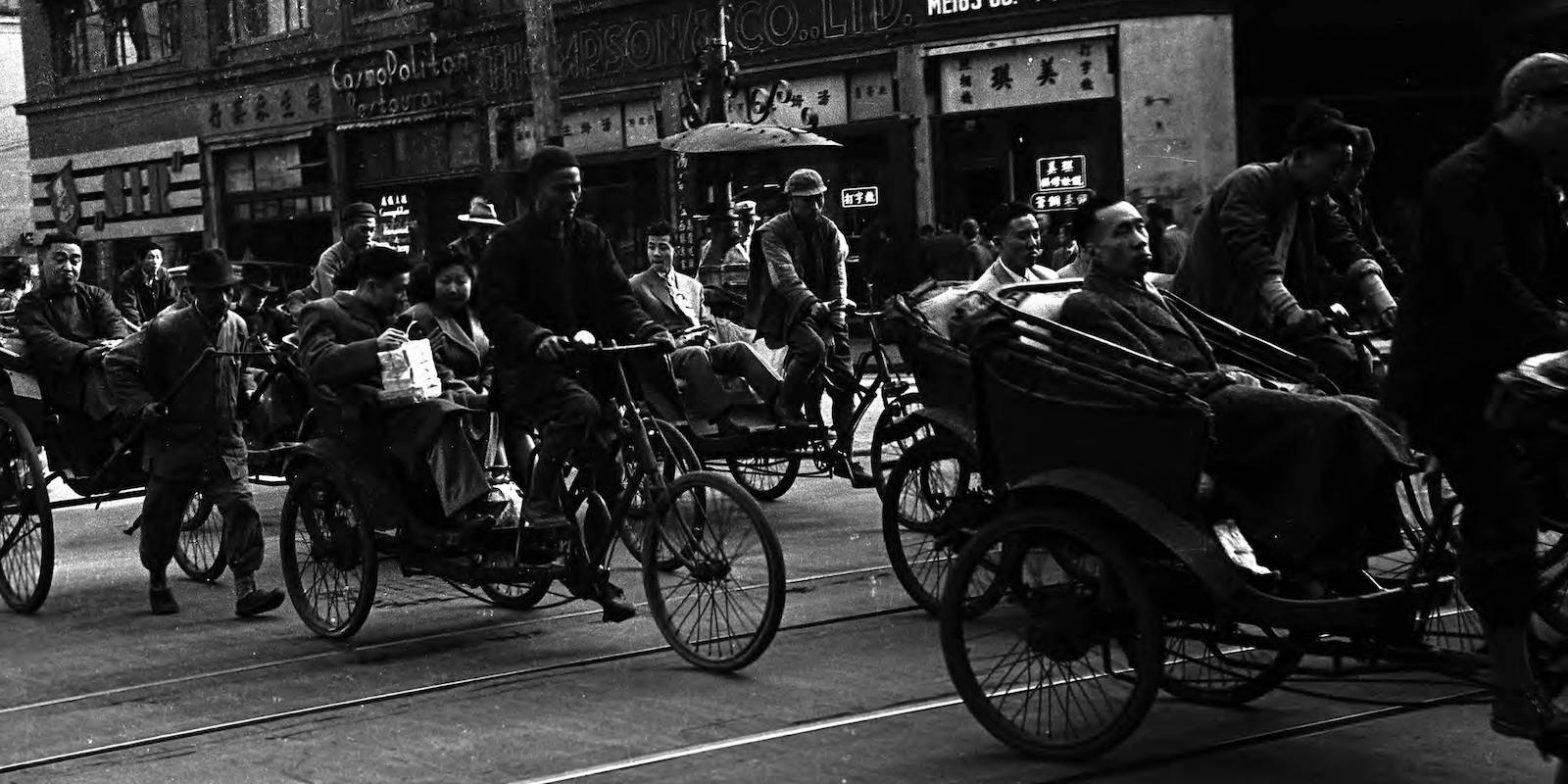 Улица Сычуаньская и Центральная аркада в 1949 году (с) Harrison Forman