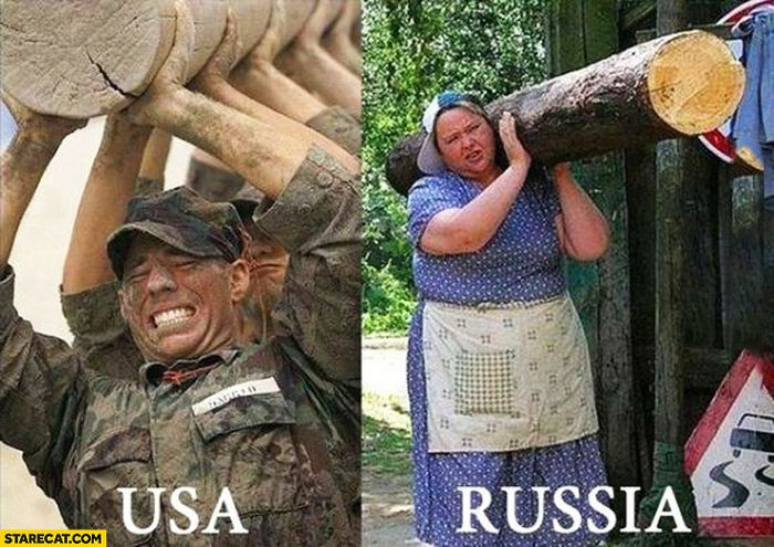 carrying-a-log-usa-soldiers-russia-one-single-lady-comparison