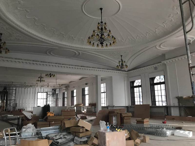 Зал для торжеств во время реставрации. Источник: Tina Kanagaratnam