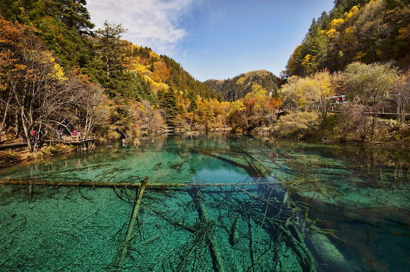 Цзючжайгоу - одно из главных направлений экотуризма в Китае. Источник: Wikipedia
