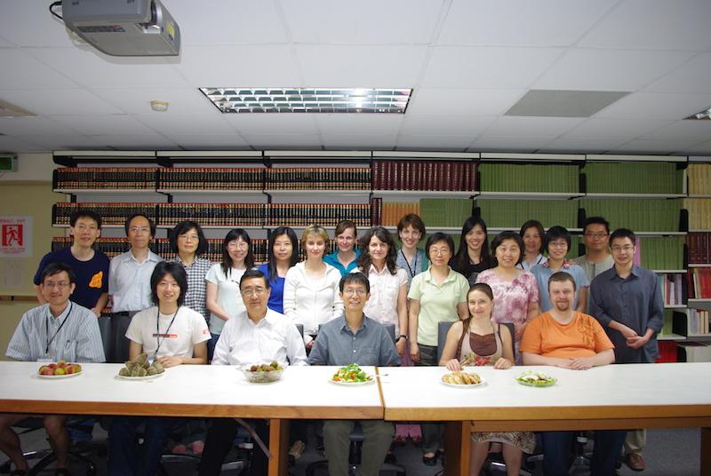 С коллегами по гранту Центра синологических исследований, Тайвань, 2009. Фото: из архива Екатерины Завидовской