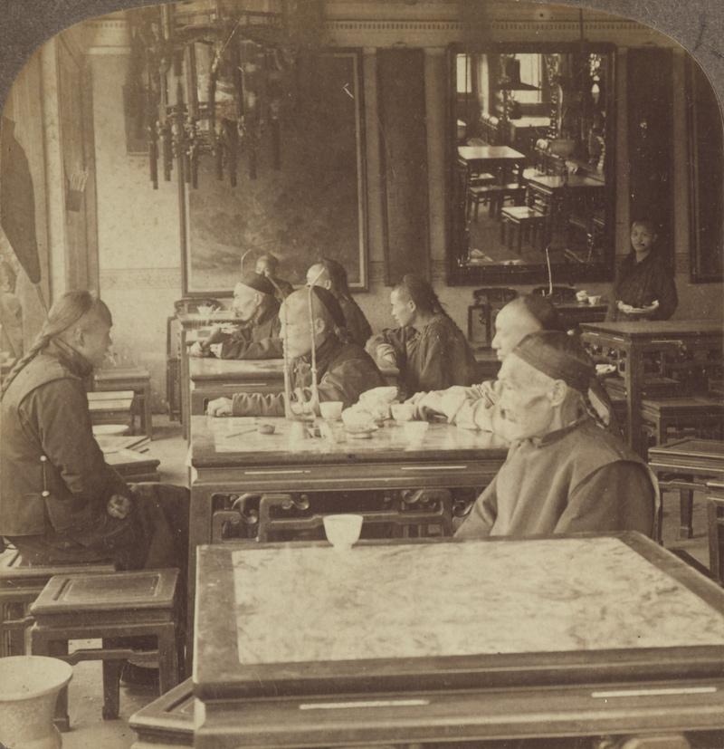 Интерьер чайного дома. Источник: TePapa Collection