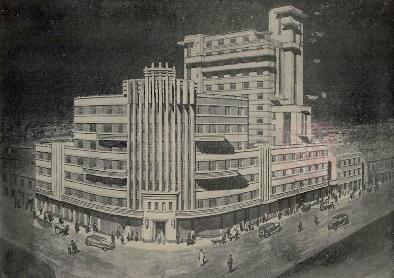 Проект здания, предложенный в 1936 году. Источник: 中国建筑 (1936) via cnbksy.cn