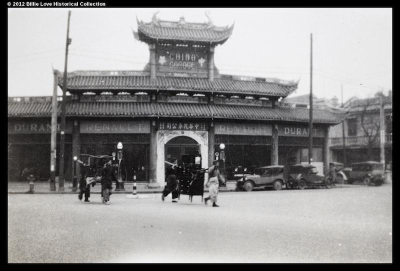 Западный конец улицы. Источник: Virtual Shanghai