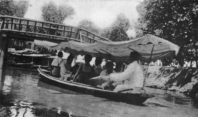 Катание на лодке по пруду. Источник: R. Barz, Sketches of Present-Day Shanghai (1935)