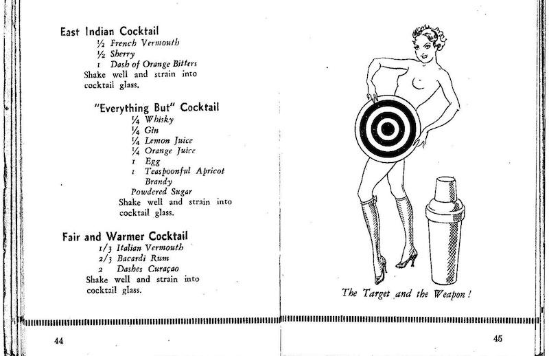 """Страница из книги рецептов коктейлей. Источник: собственное издание """"Дидис"""""""