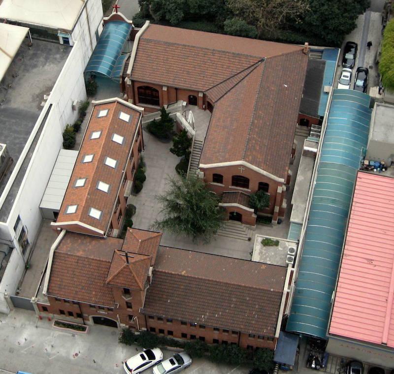 Вид церкви с высоты. Источник: Marcia Johnson