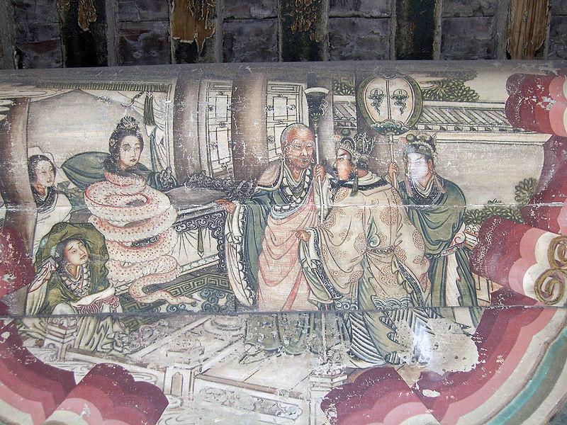 """Изображение сцены из """"Легенды о Белой змее"""" в Длинной галерее Летнего дворца в Пекине. Источник: wikimedia.org"""