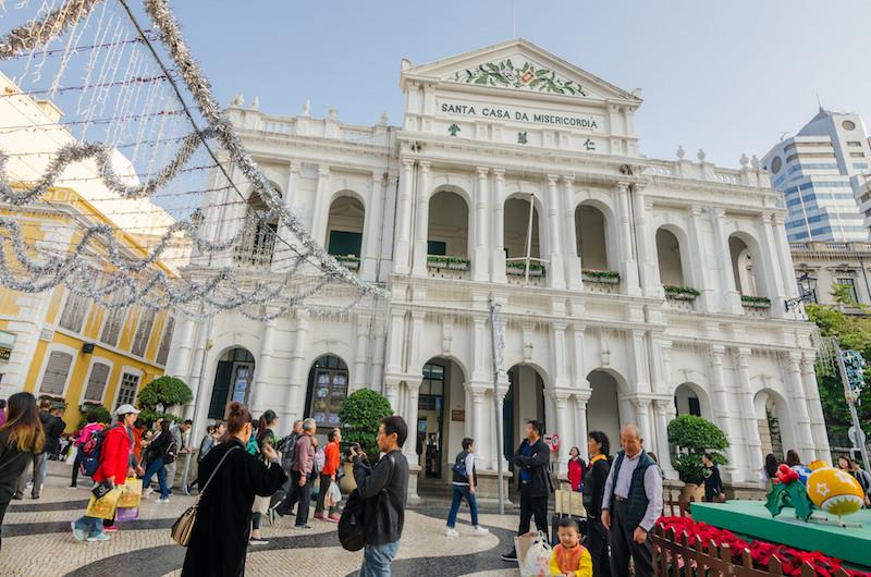 Исторический центр Макао - площадь Largo do Senado. Фото: Алина Кочетова