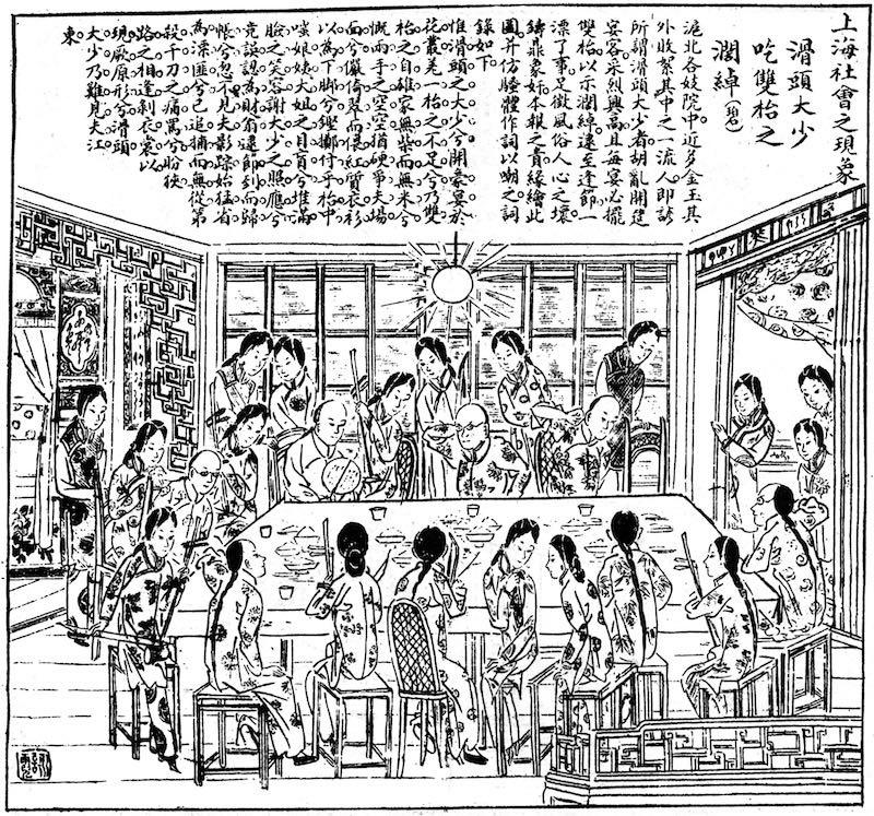 Сцена в борделе. Источник: газета 图画日报 (1909)