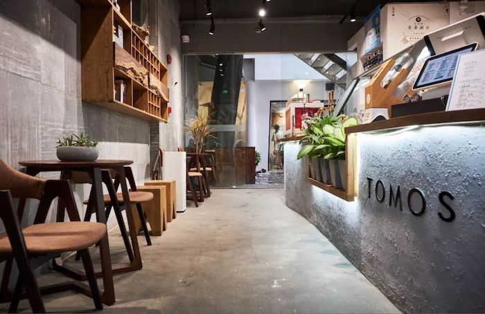 Нео-классический китайский интерьер чайной Tomos. Источник: g.com.cn
