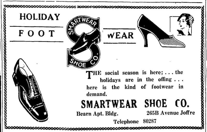 Реклама обувного магазиина в 1931 году. Источник: The China Press
