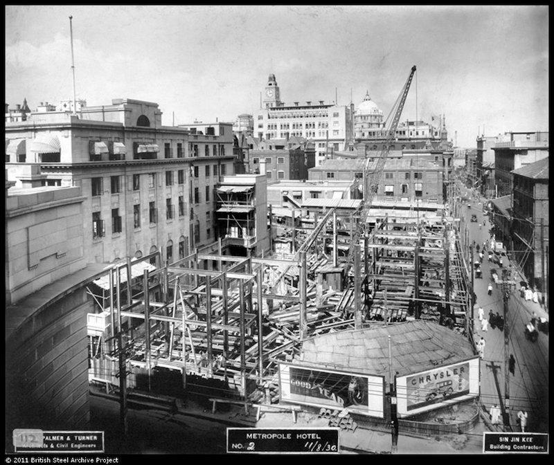 Начало строительства в 1930 году. Источник: British Steel Archive