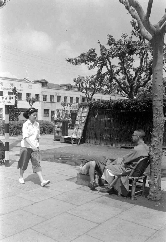 Угол парка Линьсэнь в 1949 году. Источник: Jack Birns, Life Magazine