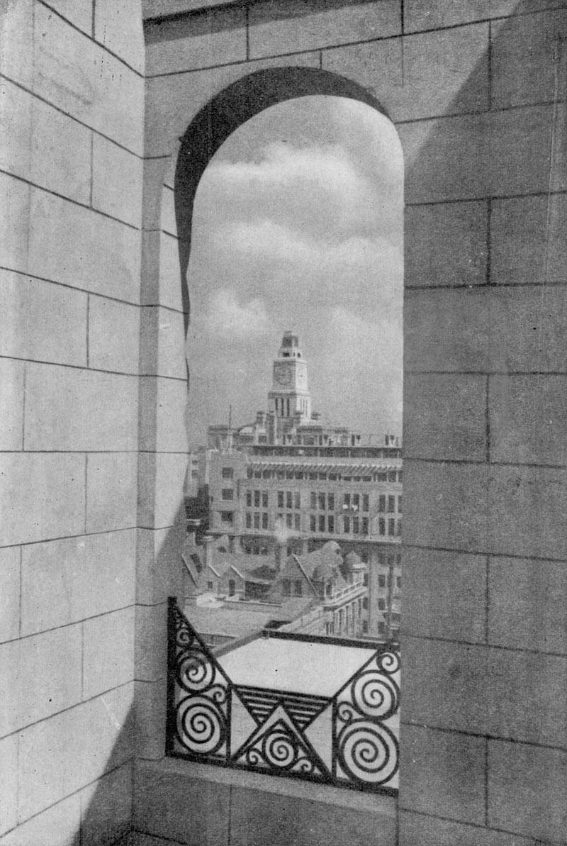 Вид на Таможенный союз с балкона пентхауса в 1933 году. Источник: 建筑月刊 viz cnbksy.com
