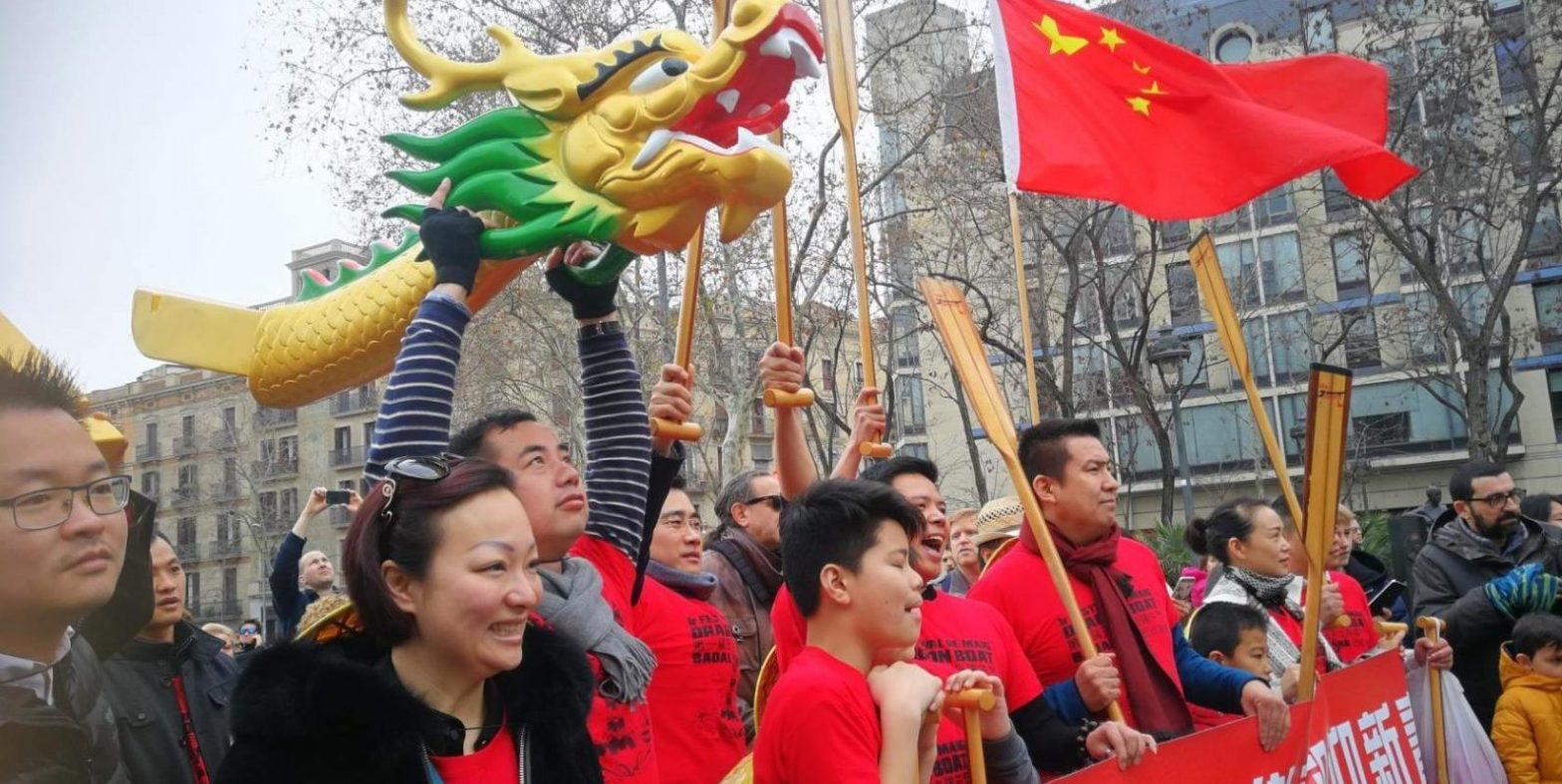 Празднование Китайского нового года в Барселоне
