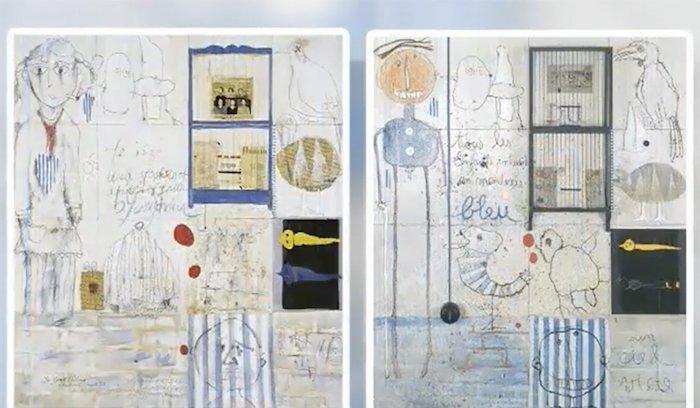 Слева - работа Е Юнцина, справа - его источник вдохновения. Источник: scmp.com