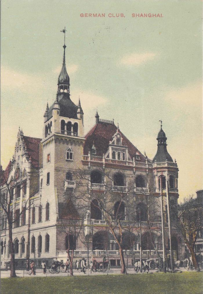 Раскрашенная открытка с видом немецкого клуба. Источник: flickr Fin de Siecle Flickr