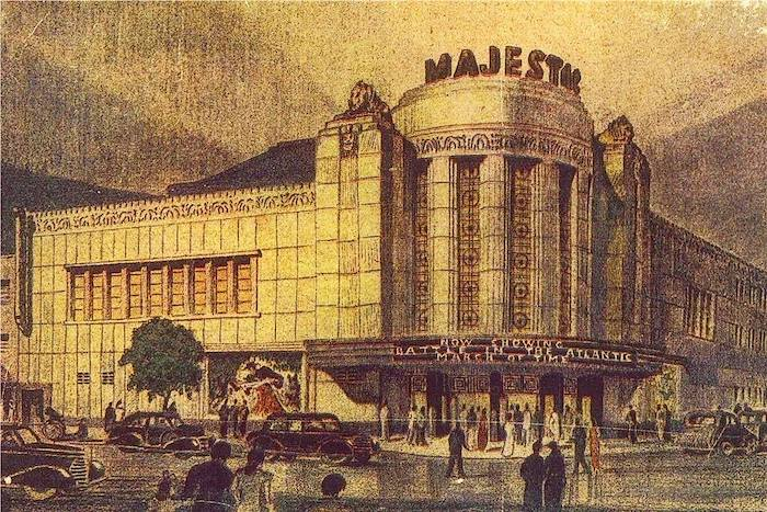 Рисунок кинотеатра руки архитектора Роберта Фаня. Источник: Shanghai Municipal Archive