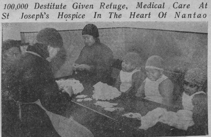Сироты и персонал в 1941 году. Источник: The China Press Sunday Pictorial Section