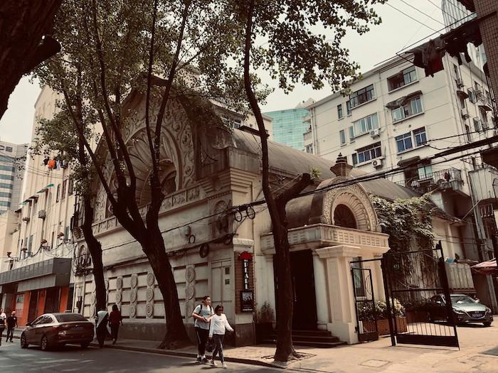 "Ниси Хонгандзи, теперь кабаре ""Перл"". Источник: Facebook 走跳上海建築 Wandering thru Shanghai Architecture"