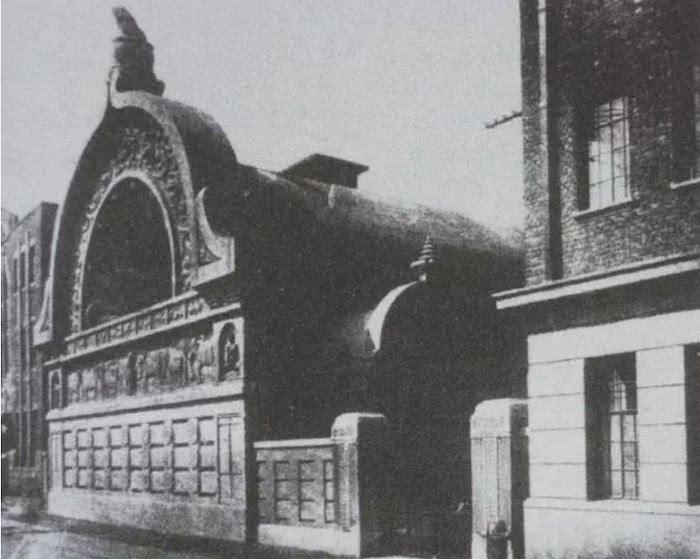 Вид храма Ниси Хонганцзи вскоре после постройки в 1931 году. Источник: Shanghai Municipal Archive