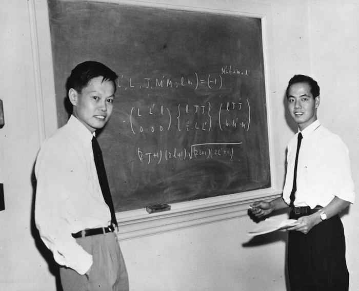 Ян Чэньнин и Ли Чжэндао. Источник: photos.aip.org