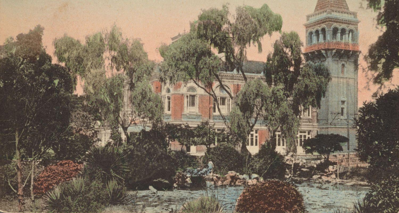 """Аркадия Холл"" в Саду Чжана. Источник: New York Public Library"